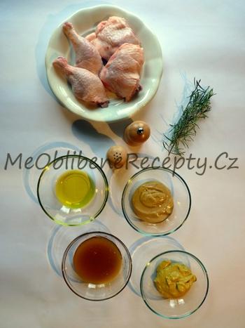 Kuřecí kousky pečené na hořčici a medu