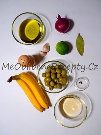 Nakládané banány s olivami