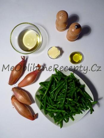 Zelené fazolky se šalotkou