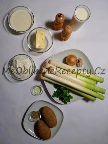 Pórkový krém se smaženými brambory