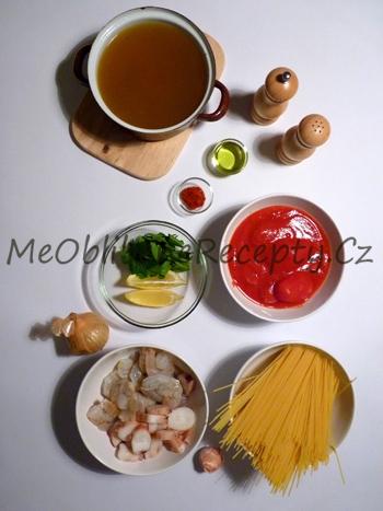 Těstoviny s plody moře
