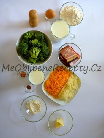 Palačinky zapečené s brokolicí a slaninou