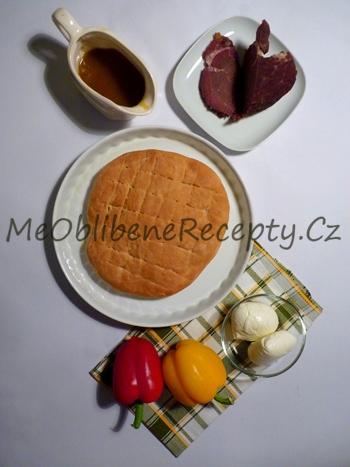 Italský sendvič se soleným hovězím