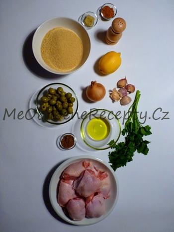 Kuřecí kuskus s olivami