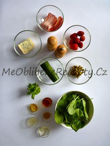 Jahodový salát se špenátem