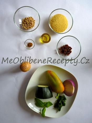 Zeleninový kuskus s rozinkami