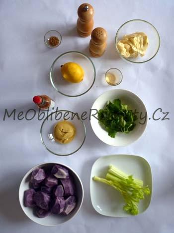 Salát z fialových brambor