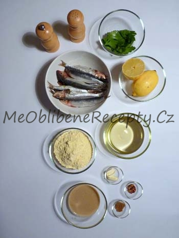Smažené sardinky s omáčkou tarator