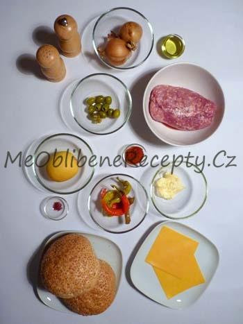Vepřový burger po španělsku