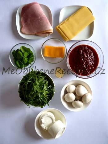 Šunkové lasagne s ricottou