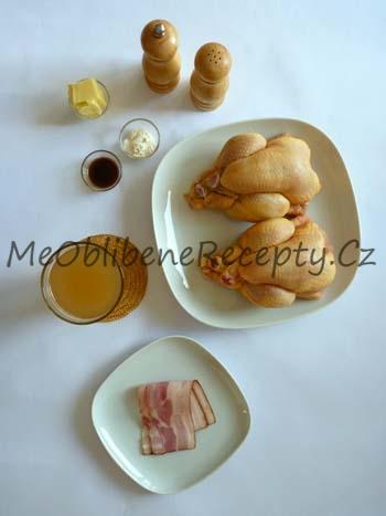 Minikuřátko se slaninou