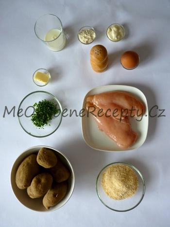 Marinované kuřecí řízečky s bylinkovými bramborami