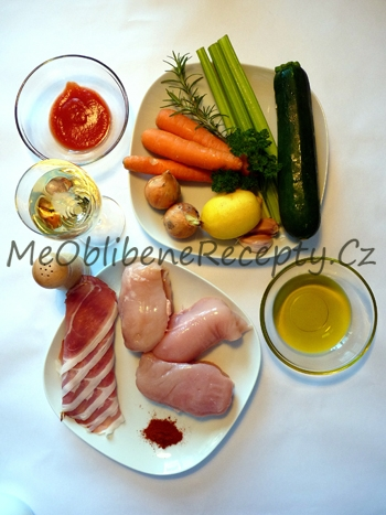 Kuřecí závitky na zelenině